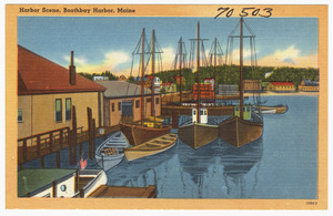 Harbor scene, Boothbay Harbor, Maine