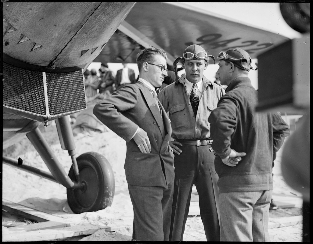 Aviators of the Flash and Bluebird meet. Old Orchard, Maine.