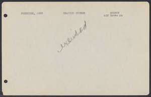 Sacco-Vanzetti Case Records, 1920-1928. Defense Papers. Jury lists, n.d. Box 3, Folder 14, Harvard Law School Library, Historical & Special Collections