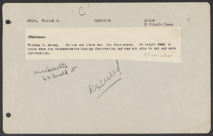 Sacco-Vanzetti Case Records, 1920-1928. Defense Papers. Jury lists (unordered. Names do not correspond to those in folders 3-9 through 3-12) n.d.  Box 3, Folder 15, Harvard Law School Library, Historical & Special Collections
