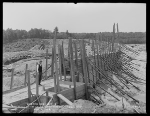 Weston Aqueduct, Weston Reservoir, Section 2, core wall from Valve Chamber southerly, Weston, Mass., Aug. 4, 1902