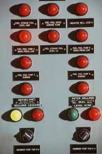 Control board at Yankee Atomic power plant, Rowe