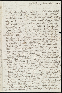 Letter from Richard Davis Webb, Dublin, [Ireland], to Anne Warren Weston, November 4, 1849