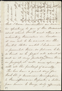 Letter from Emma Michell, 47 Park St, [Bristol, England], to Miss Weston, Nov. 8th / [18]52, Monday eve'g