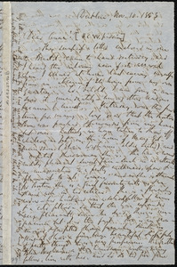 Letter from Richard Davis Webb, Dublin, [Ireland], to Anne Warren Weston, Nov. 10, 1853