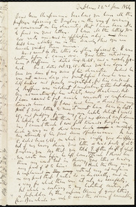 Letter from Richard Davis Webb, Dublin, [Ireland], to Maria Weston Chapman, 22nd Jan. 1854