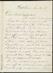 Letter from J. M. Aldrich, Fall River, [Mass.], to Maria Weston Chapman, Nov. 16 / [18]59