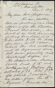 Letter from Rebecca Whitelegge, 77 Chatham St[reet], Manchester, [England], to Maria Weston Chapman, Dec. 1, 1859
