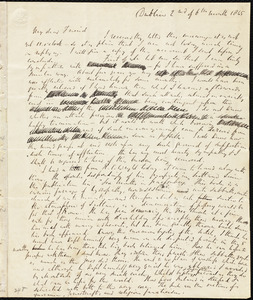 Incomplete letter from Richard Davis Webb, Dublin, [Ireland], to Maria Weston Chapman, 2nd [day] of 6th month 1845