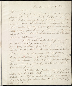 Letter from William Lloyd Garrison, Boston, [Mass.], to Robert Purvis, May 30, 1832