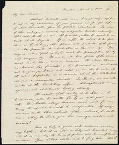 Letter from William Lloyd Garrison, Boston, [Mass.], to George William Benson, March 8, 1838