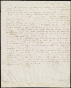 Partial letter from William Lloyd Garrison, Liverpool, [England], May 27, 1833