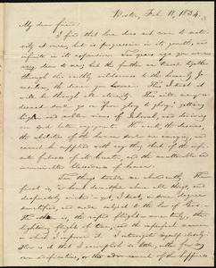 Letter from William Lloyd Garrison, Boston, [Mass.], to Samuel Joseph May, Feb. 18, 1834