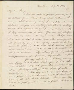 Letter from William Lloyd Garrison, Brooklyn, [Conn.], to George William Benson, July 10, 1834
