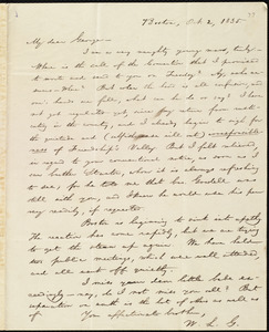 Letter from William Lloyd Garrison, Boston, [Mass.], to George William Benson, Oct. 2, 1835