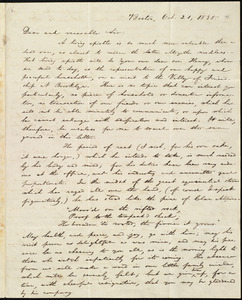 Letter from William Lloyd Garrison, Boston, [Mass.], to George Benson, Oct. 21, 1835