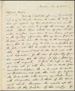 Letter from William Lloyd Garrison, Boston, [Mass.], to Helen Eliza Garrison, Nov. 9, 1835