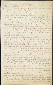 Letter from William Lloyd Garrison, Brooklyn, [Conn.], to Henry Clarke Wright, April 11, 1836