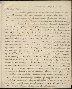 Letter from William Lloyd Garrison, Providence, [R.I.], to Helen Eliza Garrison, May 6 [i.e. May 7?], 1836