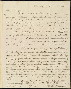 Letter from William Lloyd Garrison, Brooklyn, [Conn.], to George William Benson, June 28, 1836