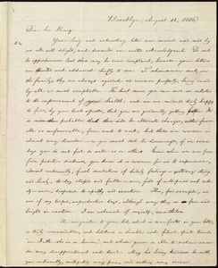 Letter from William Lloyd Garrison, Brooklyn, [Conn.], to Henry Egbert Benson, August 18, 1836