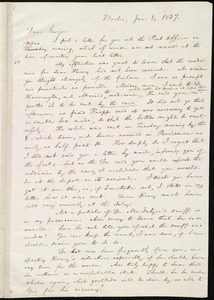 Letter from William Lloyd Garrison, Boston, [Mass.], to George William Benson, Jan. 8, 1837