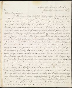 Letter from William Lloyd Garrison, Near the Grand Banks, to James Holley Garrison, June 4th, noon, 1840