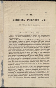 Modern Phenomena by William Lloyd Garrison, [Boston, Mass.], [March 3, 1854]