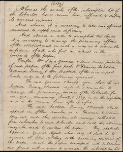 Copy of contract between William Lloyd Garrison, Isaac Knapp, Francis Jackson, Edmund Quincy, and William Bassett, [Boston, Mass.], seventeenth day of November 1838
