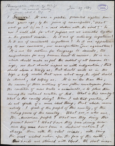 Report of speech by William Lloyd Garrison, [1847 Jan. 29?]