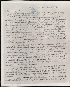 Copy of a letter from William Lloyd Garrison, No. 30, Federal St., Boston, [Mass.], to Jacob Horton, Saturday, June 27, 1829