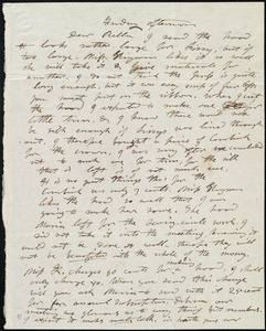 Letter from Mary Weston to Deborah Weston, Friday afternoon