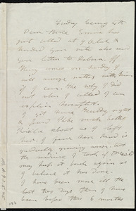 Letter from Mary Weston to Anne Warren Weston, Friday Evening 4th [1843?]