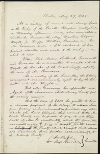 Minutes of an anti-slavery meeting by William Lloyd Garrison, Boston, [Mass.], May 27, 1836