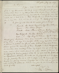 Letter from George Russell, Kingston, [Mass.], to Maria Weston Chapman, July 29, 1837