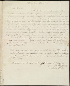 Letter from Silva W. Jones, Ashburnham, [Mass.], to Anne Warren Weston, Dec. 15, [18]37