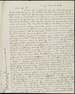 Letter from Sarah M. Plummer, Bangor, [Maine], to Anne Warren Weston, 31 March 1836