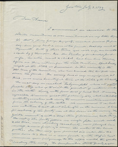 Letter from Amos Farnsworth, Groton, [Mass.], to Anne Warren Weston, July 3, 1839