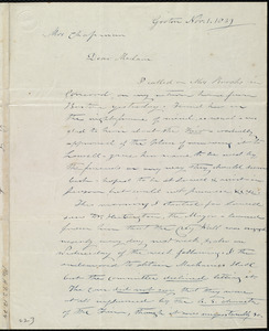 Letter from Amos Farnsworth, Groton, [Mass.], to Maria Weston Chapman, Nov. 1, 1839
