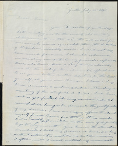Letter from Amos Farnsworth, Groton, [Mass.], to Anne Warren Weston, July 20, 1841
