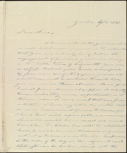 Letter from Amos Farnsworth, Groton, [Mass.], to Anne Warren Weston, Ap[ri]l 6, 1842