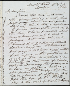 Letter from Esther Sturge, New K[en]t Road, London, [England], to Maria Weston Chapman, 2nd [day] 3rd mo[nth] 1844