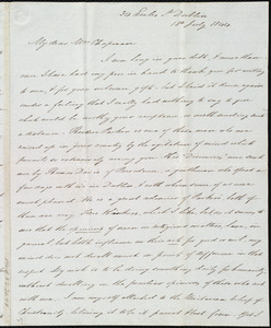 Letter from James Haughton, 34 Eccles St., Dublin, [Ireland], to Maria Weston Chapman, 18th July 1844