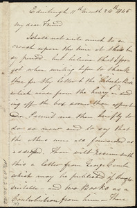 Letter from Jane Wigham, Edinburgh, [Scotland], to Maria Weston Chapman, 11th month 24th [day] 1845