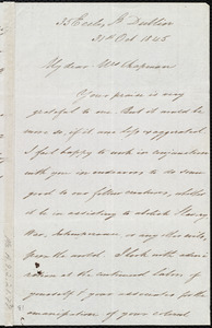 Letter from James Haughton, 35 Eccles St., Dublin, [Ireland], to Maria Weston Chapman, 31st Oct. 1845