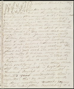 Letter from Esther Sturge, Northfleet House, [London?, England], to Maria Weston Chapman, 1 [day] 3 mo[nth] 1847