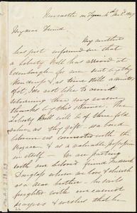 Letter from Eliza Wigham, Newcastle on Tyne, [England], to Maria Weston Chapman, 1806-1885, 4th mo[nth] 2'd [day] 1847