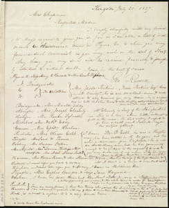Letter from George Russell, Kingston, [Mass.], to Maria Weston Chapman, July 20, 1837