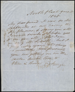 Letter from Esther Sturge, Northfleet, [England], to Maria Weston Chapman, 9 mo[nth] 15 [day] 1848