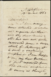 Letter from Esther Sturge, Northfleet, [England], to Caroline Weston, 13 [day] 4 mo[nth] 1863